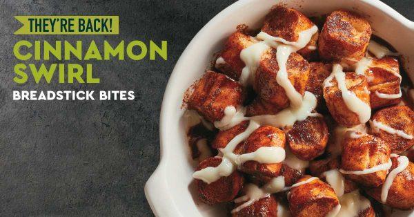 Cinnamon Swirl Breadstick Bites