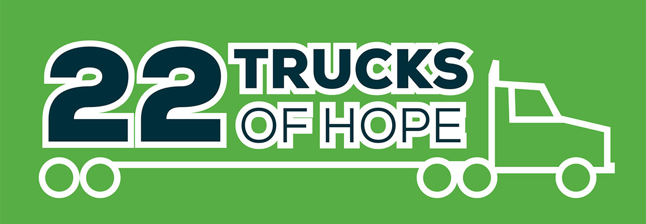 22 Trucks of Hope Graphic