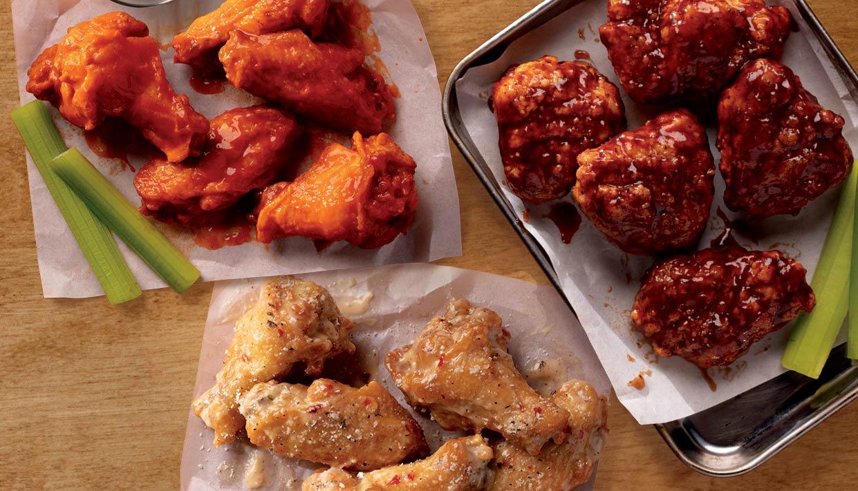 3 Platters of Wings